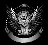 Winged Lion Front View Insignia