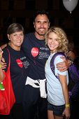 LOS ANGELES - OCT 6:  Char Griggs, Don Diamont, Linsey Godfrey attends the Light The Night Walk to b