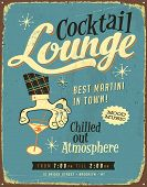 Vintage Metall sign - Cocktail Lounge - JPG Version
