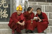 Tibetan Monks In Shangrila