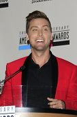 LOS ANGELES - OCT 9: Lance Bass at the 40th Anniversary American Music Awards nominations press conf