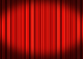 picture of movie theater  - Deep Red velvet stage theater curtain drapes - JPG
