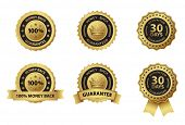 money back guarantee gold badge label