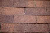 Brown Asphalt Roofing Shingles.