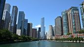 Chicago River View, With Trump International Hotel And Tower