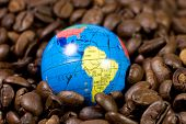 Small Globe On Coffee Beans