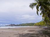 Beautiful Tropical Beach Near Samara In Costa Rica