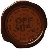 thirty percent discount on wax seal