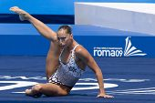 Jul 23 2009; Rome Italy; Gemma Mengual (ESP) competing in the final round of the solo synchronised swimming competition at the 13th Fina World Aquatics Championships