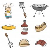 Cute BBQ illustrations.