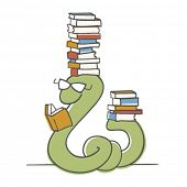pic of bookworm  - Bookworm - JPG