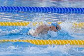 Jul 26 2009; Rome Italy; Federica Pellegrina swimming her way to breaking the world record to win th