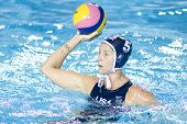 Jul 29 2009; Rome Italy; USA team player Lauren Wenger competing in the womens waterpolo semi final match between USA and Greece, USA won the match 8-7, at the 13th Fina World Aquatics Championships