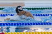 Jul 26 2009; Rome Italy; Mark Gangloff (USA) competing in the mens 100m breaststroke semi finals at