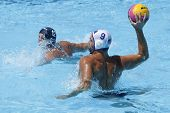 Jul 24 2009; Rome Italy; USA team player Ryan Bailey competing in the preliminary round of the men's waterpolo at the 13th Fina World Aquatics Championships