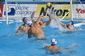 Jul 22 2009; Rome Italy; Ryan Bailey USA teampl ayer takes a shot at the goal competing preliminary round waterpolo match between USA and Macedonia in the 13th Fina World Aquatics Championships