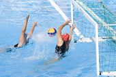 Jul 23 2009; Rome Italy; Carina Harache (NZL) saves a shot competing in the  waterpolo match between
