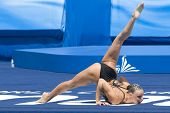 Jul 23 2009; Rome Italy; Beatrice Adelizzi (ITA) competing in the final round of the solo synchronised swimming competition at the 13th Fina World Aquatics Championships