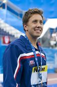 Jul 29 2009; Rome Italy; Mark Gangloff (USA) bronze medal winner in the mens 50m breaststroke at the 13th Fina World Aquatics Championships held in the The Foro Italico Swimming Complex.