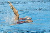 Jul 24 2009; Rome Italy; Nayara Figueira and Lara Teixeira (BRA) competing in the synchronised swimm