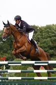 24/06/2011 HICKSTEAD ENGLAND, TITUS ridden by Guy  Williams (GBR) competing in the Hickstead Master'