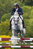 24/06/2011 HICKSTEAD ENGLAND, C-TRENTON Z ridden by Torben  K�?�?�?�¡hlbrandt (GER) competing in the Bunn Leisure Derby trial at the British Jump Derby Equestrian meeting at Hickstead West Sussex England