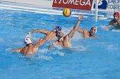 Jul 22 2009; Rome Italy;  Ronald Beaubien USA team player takes a shot at the goal competing prelimi