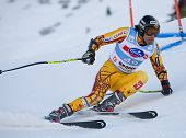 VAL GARDENA, ITALY 18 December 2009. Jeffrey Frisch (CAN)  competing in the Audi FIS Alpine Skiing W