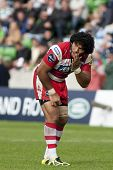 17/09/2011. Twickenham, England. Gloucester's Lesley Vainikolo, in action during the Aviva premiersh