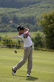 SAINT-OMER, FRANCE. 16-06-2010, A young boy plays a shot at the European Tour, 14th Open de Saint-Om