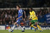 LONDON ENGLAND 23-11-2010. Chelsea's midfielder Josh McEachran and MSK Zilina's forward Bello in act