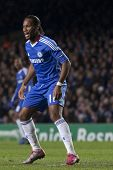 LONDON ENGLAND 23-11-2010. Chelsea's forward Didier Drogba  in action during the UEFA Champions Leag