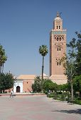 Famous Mosque In Marrakesh, Morocco