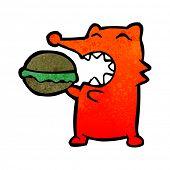 pic of greedy  - retro cartoon greedy fox - JPG