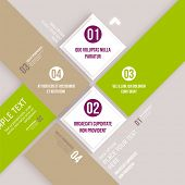 Modern design infographic template. Numbered banners. Minimal style design for business graphic. Paper background origami design. Cutout lines and other design elements.