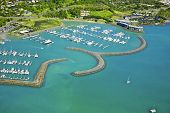 Aerial of Abel Point Marina Airlie Beach