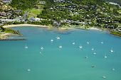 Aerial Over Airlie Beach Whitsundays