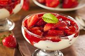 Fresh Organic Strawberry Fruit Parfait