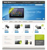 Vector website template 9: Online store