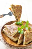 stock photo of malaysian food  - Malaysian food murtabak usually sold in Indian Muslim restaurants and stalls  - JPG