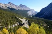 Big Bend On The Icefield Parkway In Autumn,canadian Rockies,canada