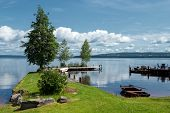 Summer morning at Lake Siljan, Sweden