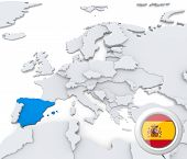 Spain On Map Of Europe