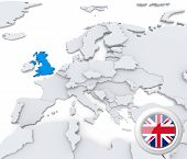 United Kingdom On Map Of Europe