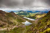 Stormy skies over Snowdonia, North Wales, UK