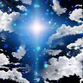 stock photo of enlightenment  - Cross Abstract - JPG