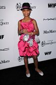 Quvenzhane Wallis at the Sixth Annual Women In Film Pre-Oscar Coctail Party, Fig & Olive, Los Angele