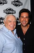HOLLYWOOD - JULY 10: Ernest Borgnine and Jonathan Silverman at the Premiere of