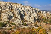 stock photo of chimney rock  - Fairy chimney rock formation in cappadicia - JPG