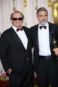 Jack Nicholson, George Clooney at the 85th Annual Academy Awards Press Room, Dolby Theater, Hollywoo